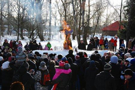 Празднование Широкой Масленицы в Мелихово